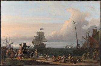 Nederlandske skip ved Texel i 1671. Maleri av Ludolf Bakhuizen